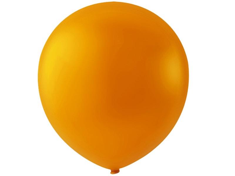 20 Luftballons - Ø 23cm Rund aus Naturgummi - für Helium-Befüllung - Orange