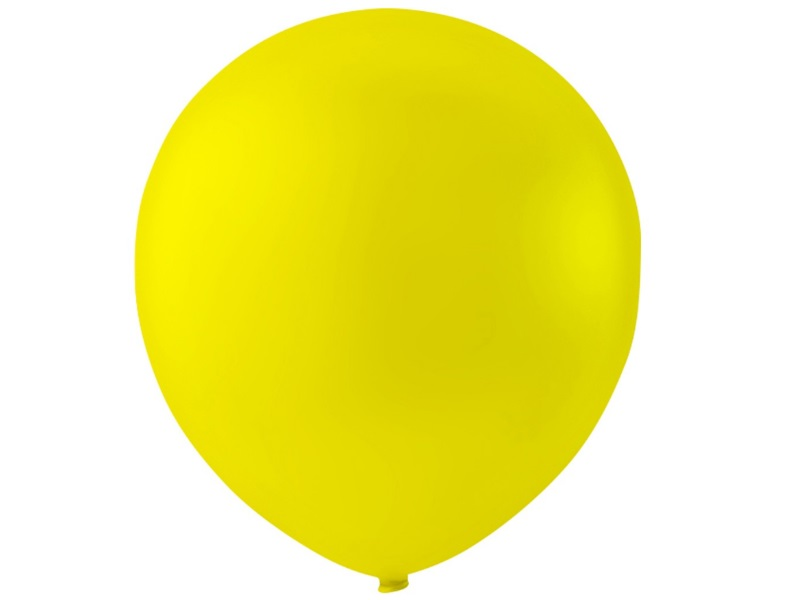 20 Luftballons - Ø 23cm Rund aus Naturgummi  - für Helium-Befüllung - Gelb