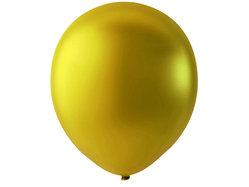 20 Luftballons - Ø 23cm Rund aus Naturgummi - für Helium-Befüllung - Gold