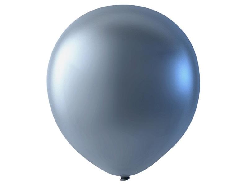 20 Luftballons - Ø 23cm Rund aus Naturgummi - für Helium-Befüllung - Silber