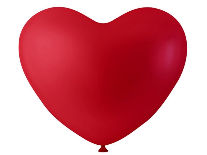 16 Herzballons - Luftballons Ballons - aus Naturgummi - Farbe Rot