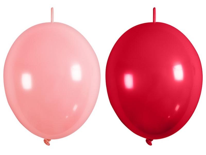 16 Ketten-Ballons - Luftballons Ballons - aus Naturgummi - Farbe Rot