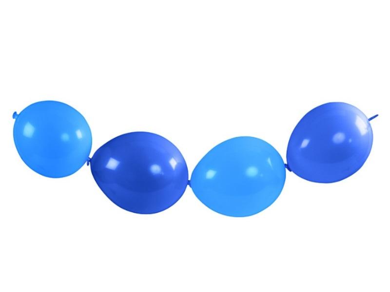 16 Ketten-Ballons - Luftballons Ballons - aus Naturgummi Farbe Hellblau