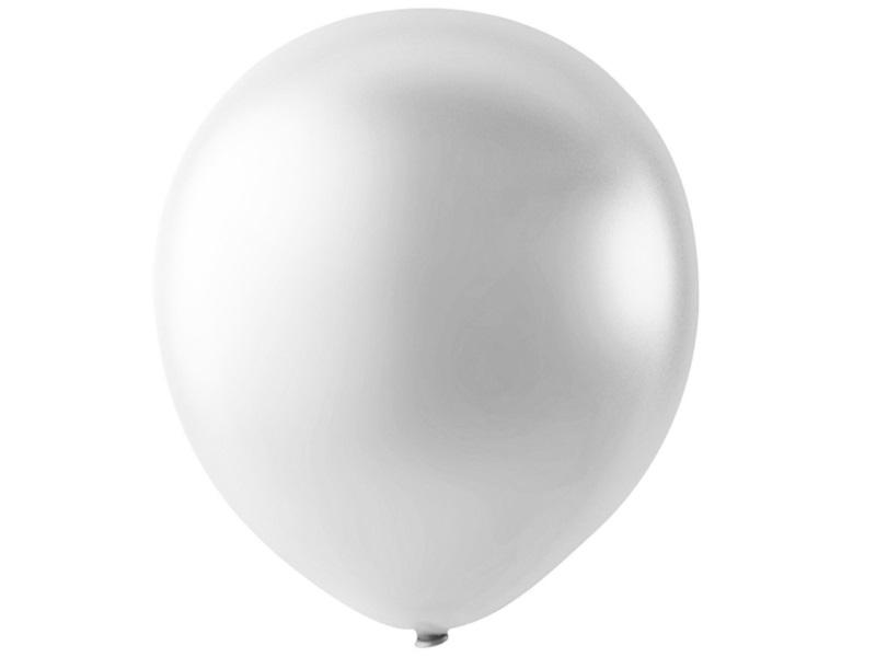 20 Luftballons - Ø 23cm Rund aus Naturgummi - für Helium-Befüllung - Weiß