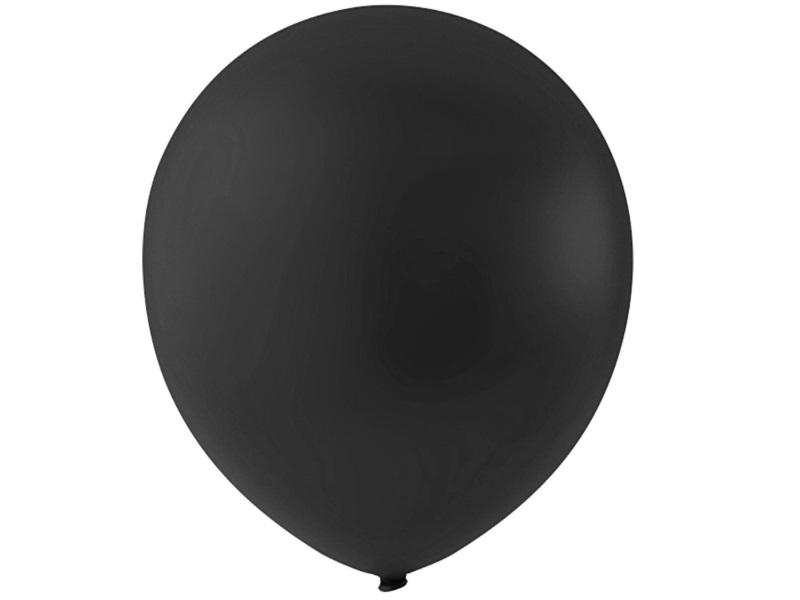 20 Luftballons - Ø 23cm Rund aus Naturgummi - für Helium-Befüllung - Schwarz