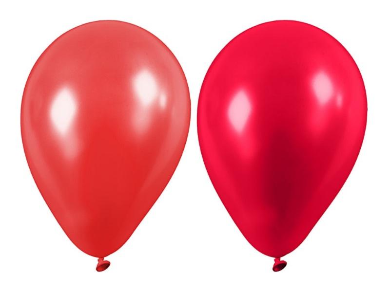 20 Luftballons - Ø 23cm Rund aus Naturgummi - für Helium-Befüllung - Rot