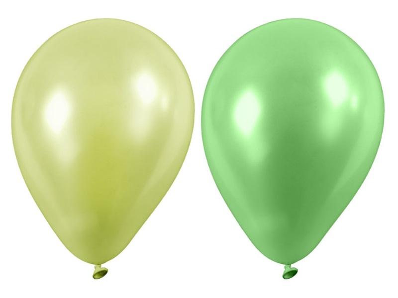 20 Luftballons - Ø 23cm Rund aus Naturgummi - für Helium-Befüllung - Grün