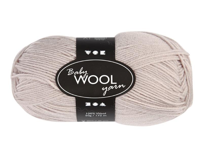 Babywolle - Extraweich - 100% austral. Merinowolle- Länge 172m - 50g - Beige