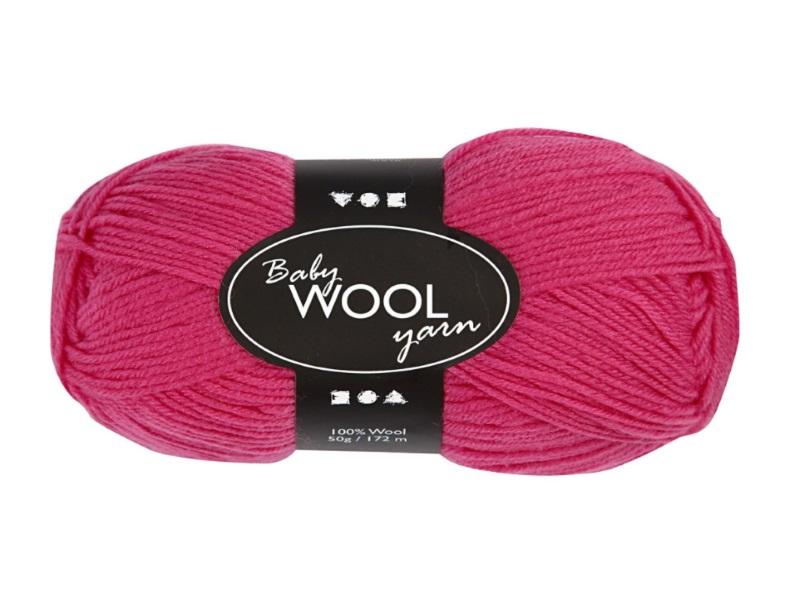 Babywolle - Extraweich - 100% austral. Merinowolle- Länge 172m - 50g - Pink