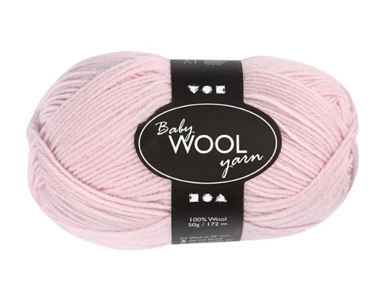Babywolle - Extraweich - 100% austral. Merinowolle- Länge 172m - 50g - Hellrosa