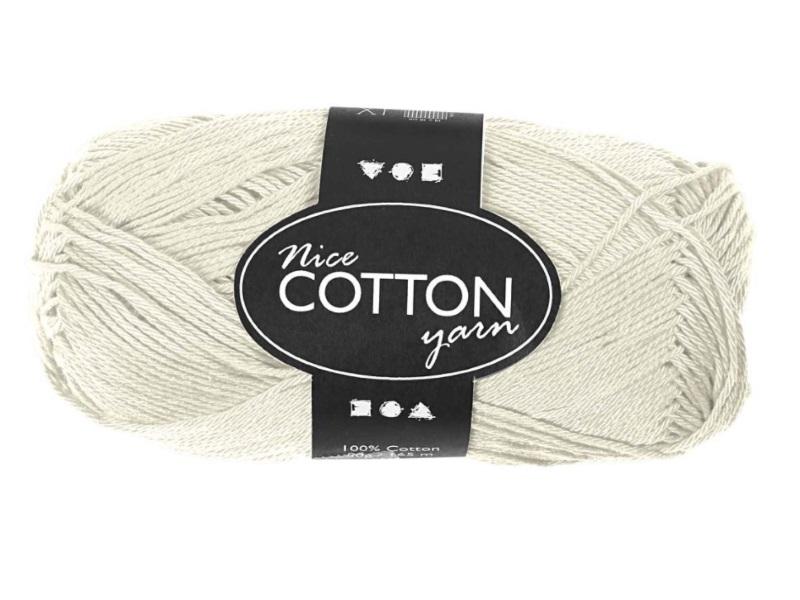 Merzerisierte Baumwolle 100% Deluxe Baumwolle - Länge 165m - 50g  - Farbe  Creme