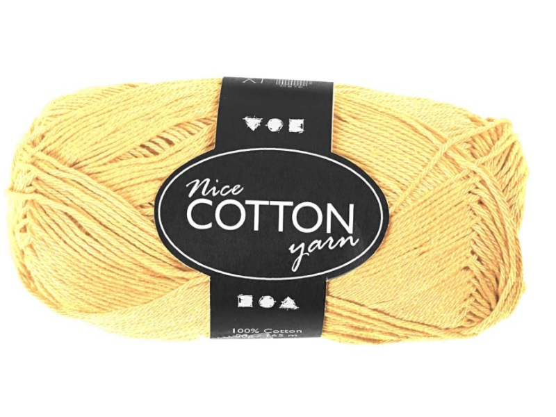 Merzerisierte Baumwolle 100% Deluxe Baumwolle - Länge 165m - 50g  - Farbe  Gelb