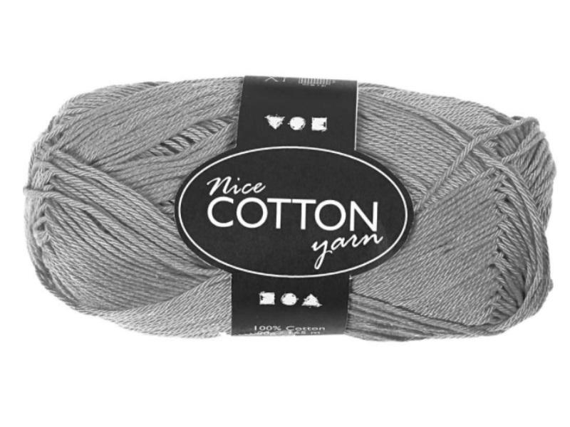Merzerisierte Baumwolle 100% Deluxe Baumwolle - Länge 165m - 50g  - Farbe  Grau