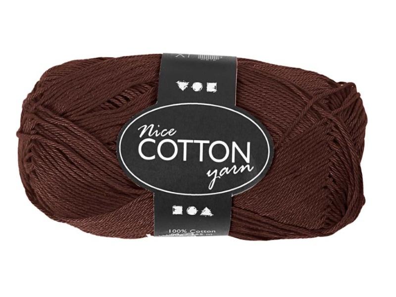 Merzerisierte Baumwolle 100% Deluxe Baumwolle - Länge 165m - 50g  - Farbe  Braun
