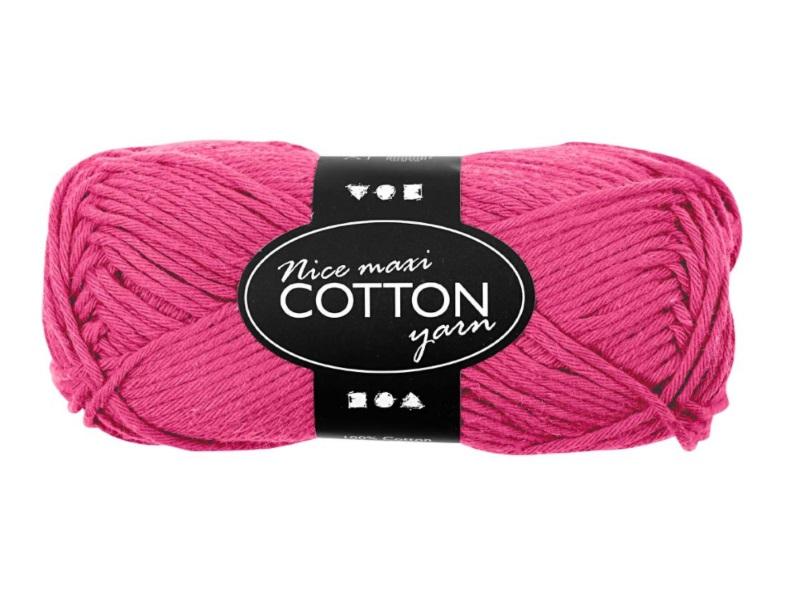 Baumwolle Maxi - Länge 80-85m - 50g Cotton Wolle - Farbe Pink