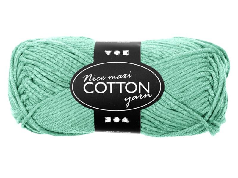 Baumwolle Maxi - Länge 80-85m - 50g Cotton Wolle - Farbe Grün