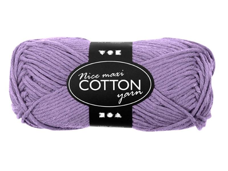 Baumwolle Maxi - Länge 80-85m - 50g Cotton Wolle - Farbe Lila