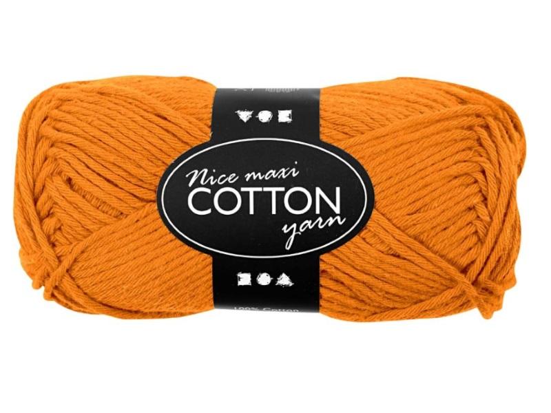 Baumwolle Maxi - Länge 80-85m - 50g Cotton Wolle - Farbe Orange