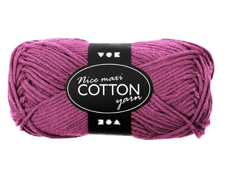 Baumwolle Maxi - Länge 80-85m - 50g Cotton Wolle - Farbe Violett
