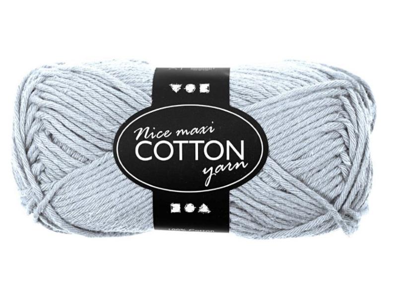 Baumwolle Maxi - Länge 80-85m - 50g Cotton Wolle - Farbe Hellblau
