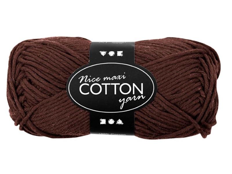 Baumwolle Maxi - Länge 80-85m - 50g Cotton Wolle - Farbe Braun