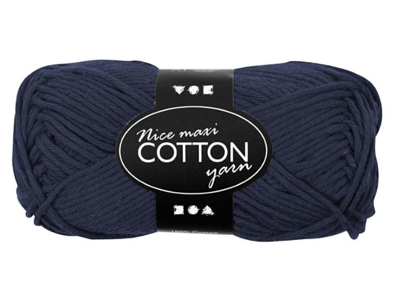 Baumwolle Maxi - Länge 80-85m - 50g Cotton Wolle - Farbe Dunkelblau