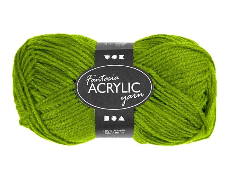 Fantasia 100% Polyacryl Wolle - 3-fädige Wolle - Länge 80m - 50g - Hellgrün