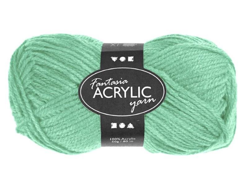 Fantasia 100% Polyacryl Wolle - 3-fädige Wolle - Länge 80m - 50g - Mintgrün