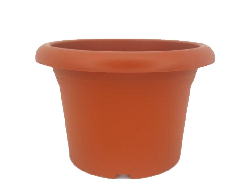 """Pflanzenkübel """"ETRUSCO"""" aus Kunststoff in Terracotta Ø 35 cm x Höhe 25 cm"""