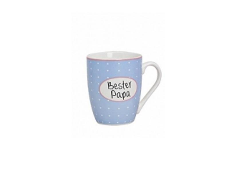 Bester Papa - Becher 300ml H10cm - Teetasse Kaffeebecher Porzellan