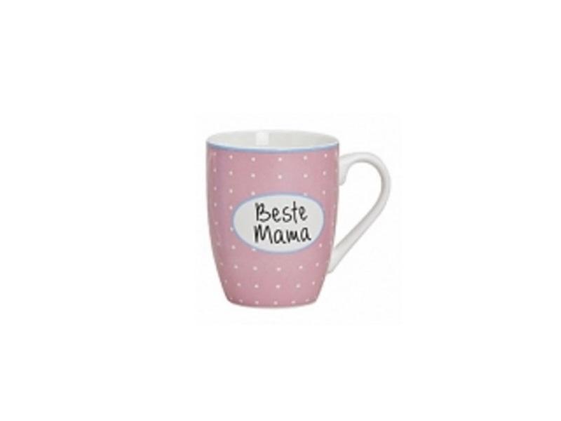 Beste Mama – Becher 300ml H10cm - Teetasse Kaffeebecher Porzellan