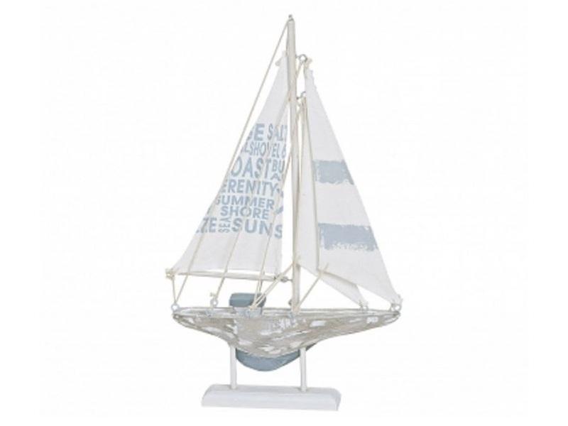 Deko Segelboot Segelschiff Boot Schiff Maritime Deko aus Holz H 31 x B 18 cm