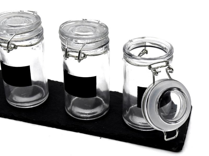 Gewürzgläser Set 5tlg. Bügelgläser Gewürze Konfitüre Öle Dressing Dessert