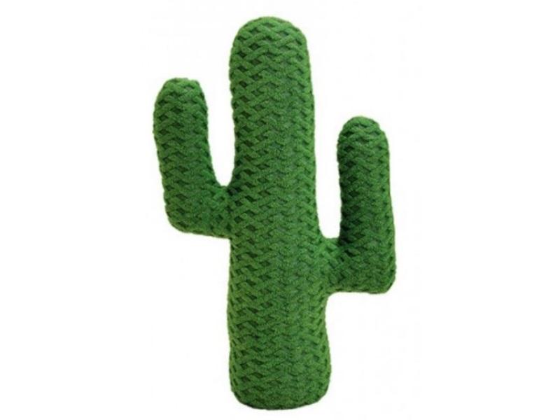 XXL Kaktus aus Textil gefüttert - moderne Dekoration -B20cm H34cm T8cm - Dunkelg