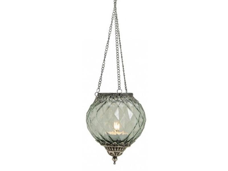 stilvolles windlicht zum h ngen aus glas und metall 15 h19cm verschiedene farb ebay. Black Bedroom Furniture Sets. Home Design Ideas