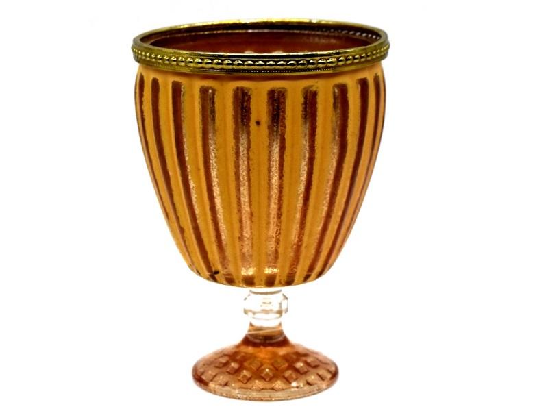 Windlicht Kelch Romantik Teelichthalter Kerzenständer Ø 10 cm H 15 cm Farbe Oran