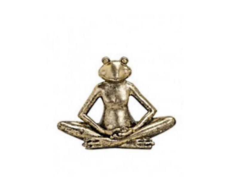 Lustige Yoga Frosche Aus Poly B17t5h12 Cm Meditierender Frosch In