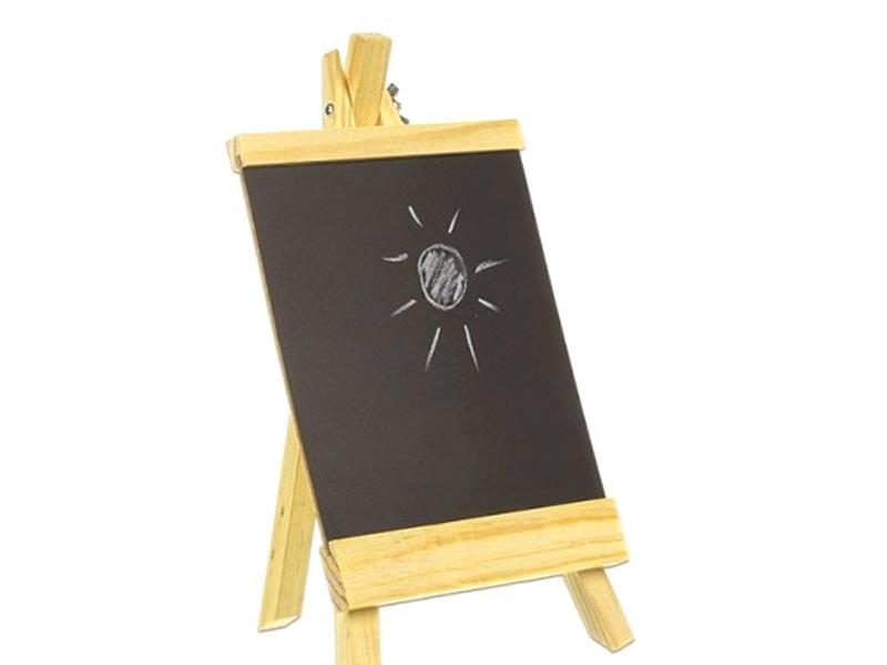 Tafel auf Staffelei aus Holz H17/B16 cm Memotafel Kreidetafel