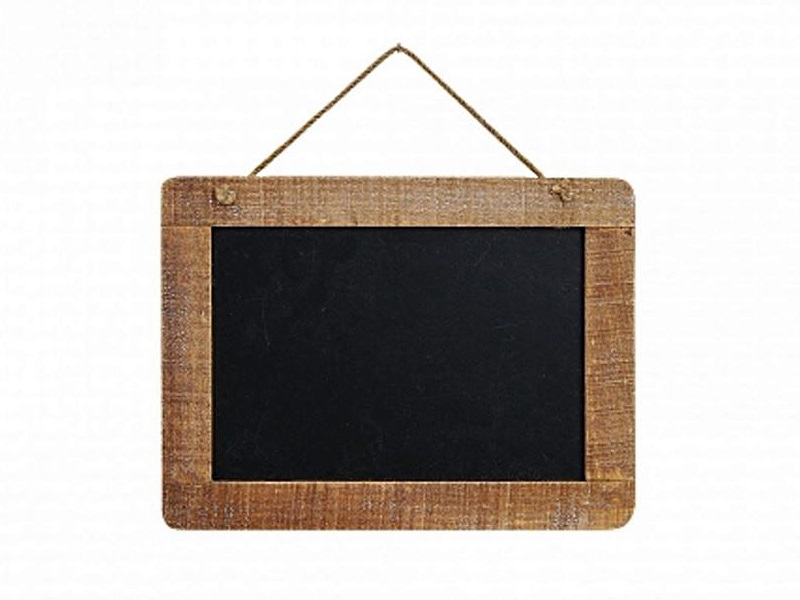 Memotafel Kreidetafel Küchentafel Memoboard aus Holz zum Hängen 29 x 21 cm