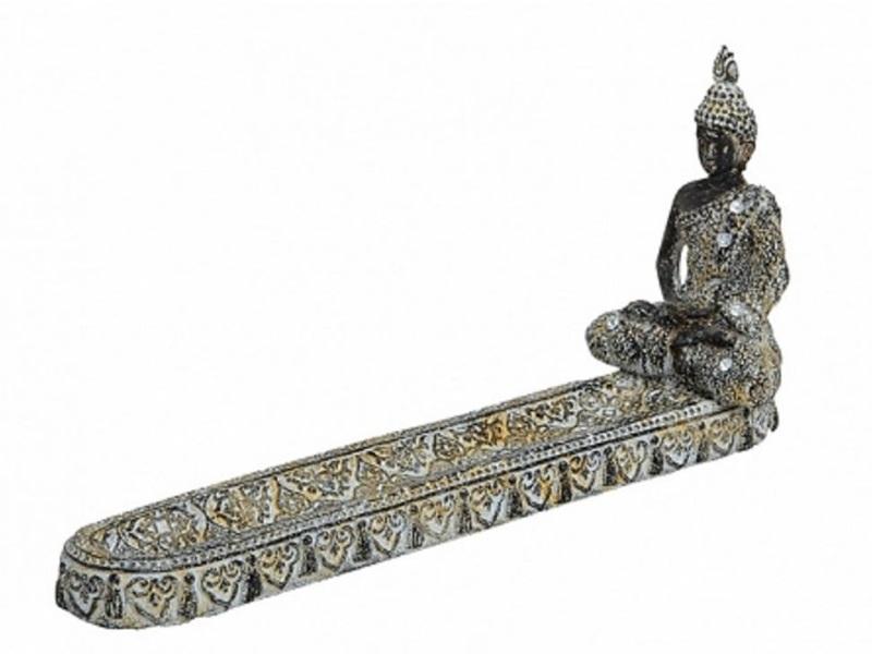 Buddha Räucherstäbchenhalter aus Poly 25 cm