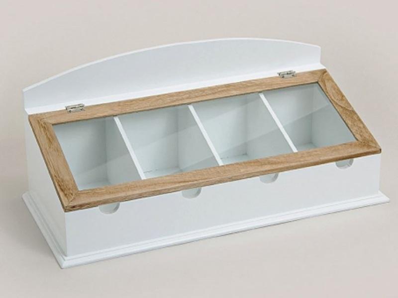 Schreibtisch  Aufbewahrungsbox Schatulle Schmuckdose Kiste Utensilien 46x20 cm