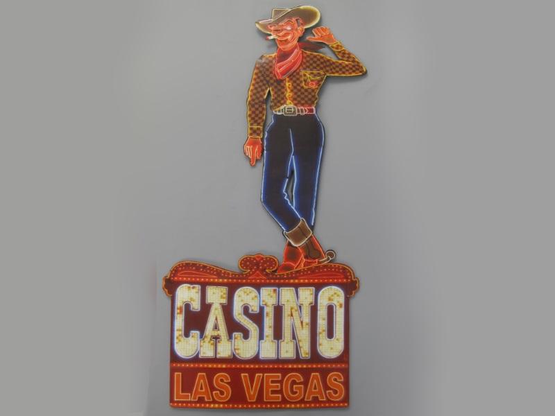 Wandschild - Blechschild aus Eisenblech - Top Deko, Casino Las Vegas - H80x B38cm
