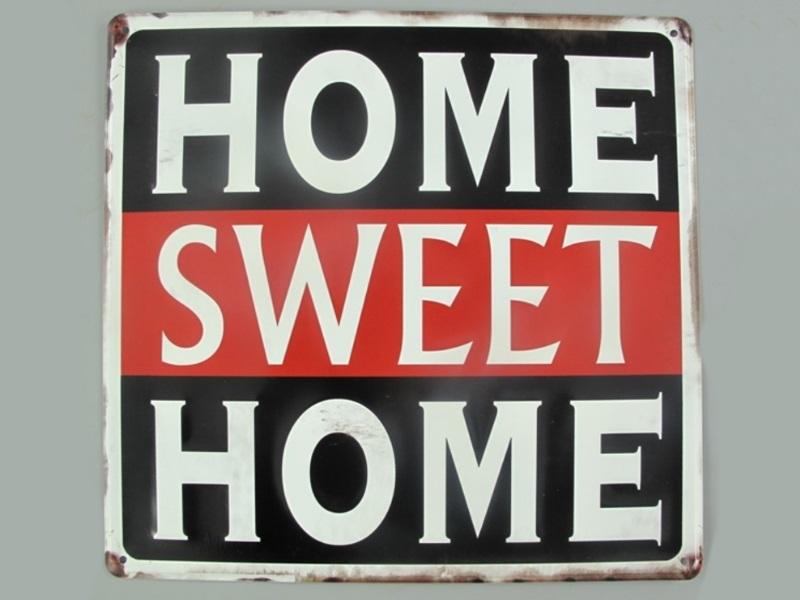 "Wandschild Retro ""HOME SWEET HOME"" (gestanzt) H30 x B30 cm Shabby"