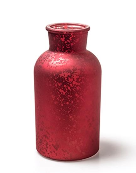 "Glasvase ""BRAXTON"" H16,5 Ø8cm - Blumenvase Tischvase Vase Farbe Rot"