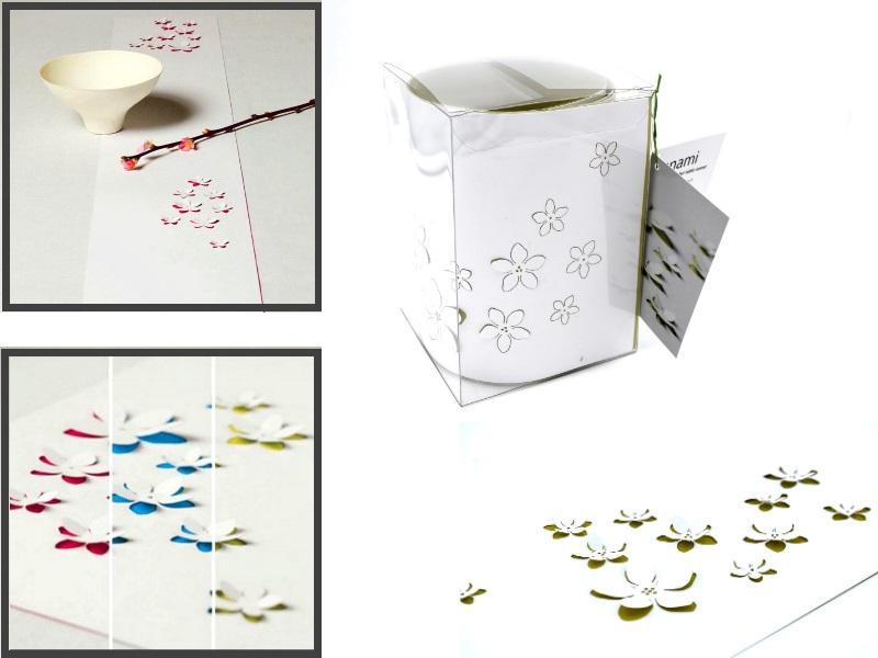 """Pop-up Tischläufer """"Hanami"""" 3D-Effekt Blüten aus Papier Tischdeko 100cm x 14cm -"""