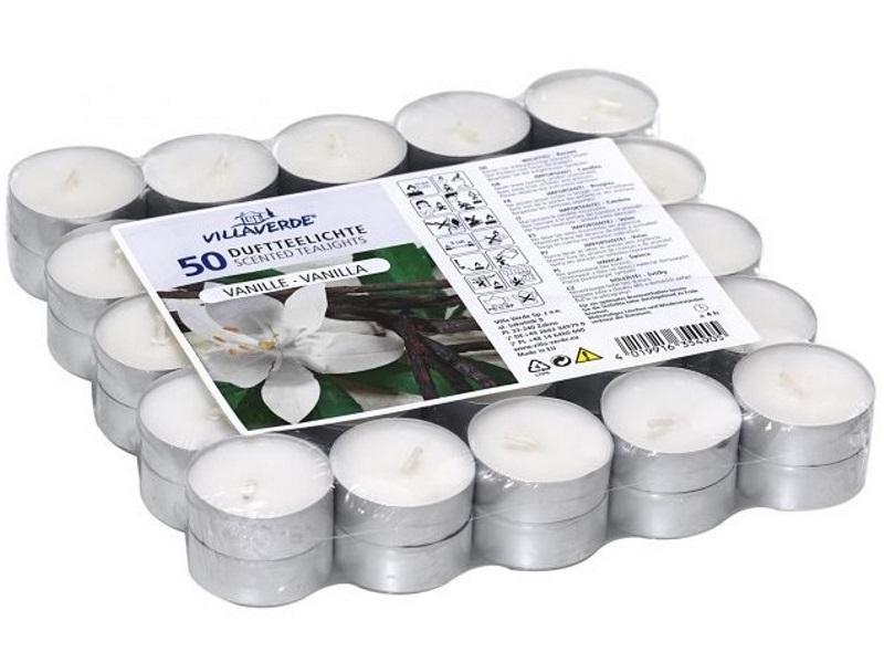 """XL Pack 50 Duftteelichter """"Vanille"""" Duftkerzen Kerzen"""