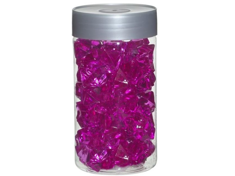 Acrylsteine Dekosteine Streudeko Tischdeko Ø 27 mm ca. 200g - Pink