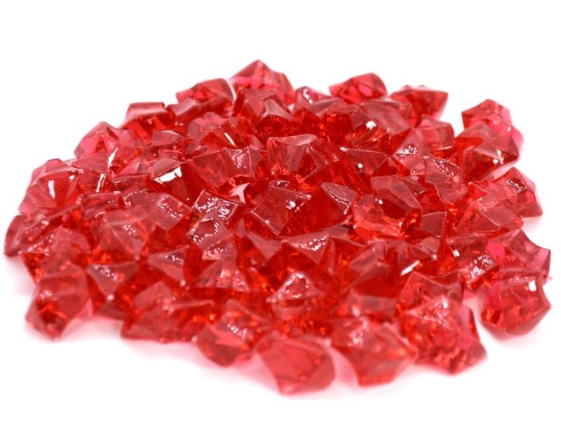 Acrylsteine Dekosteine Streudeko Tischdeko Ø 27 mm ca. 200g - Rot