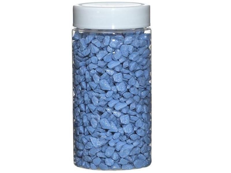 Dekosteine Ø 5-8 mm ca. 650g Dose – Hellblau
