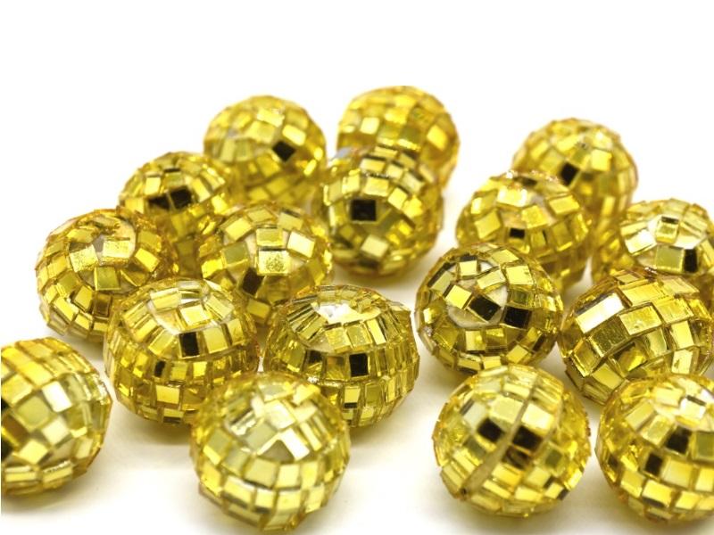 18 Spiegelkugeln Kugeln Streudeko Tischdeko - Farbe Gold
